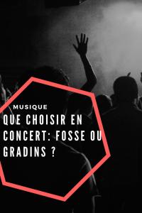 Que choisir en concert: Fosse ou Gradins ?