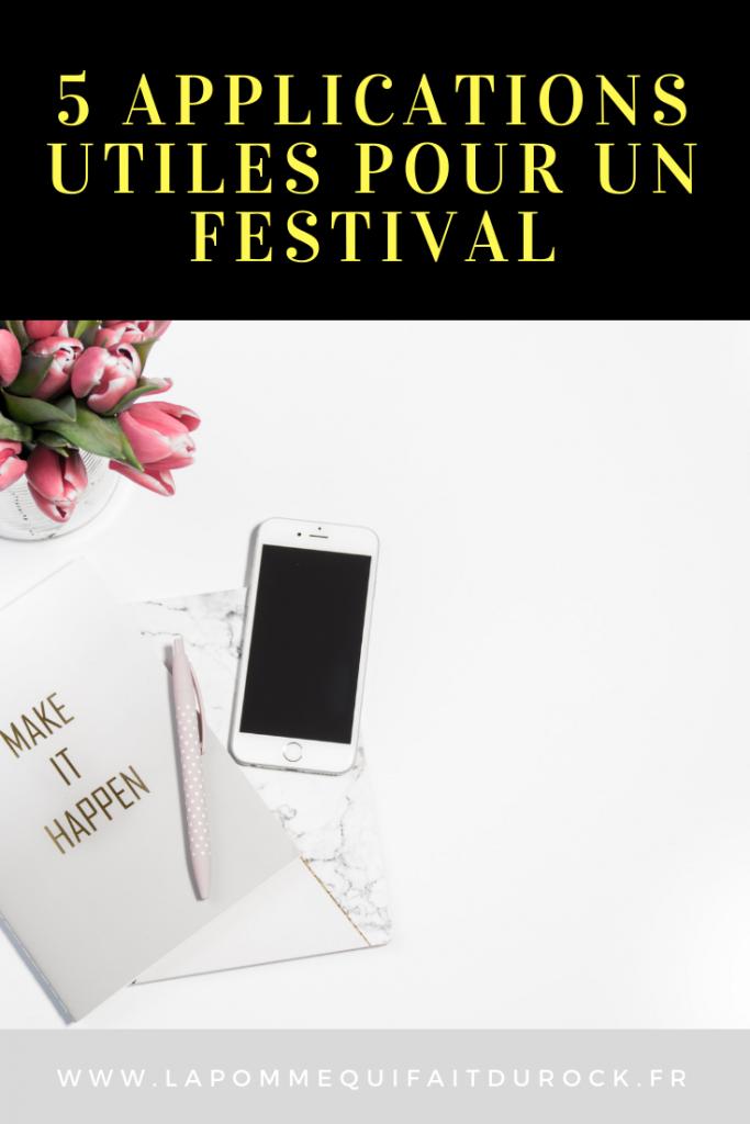 5 applications utiles pour un festival