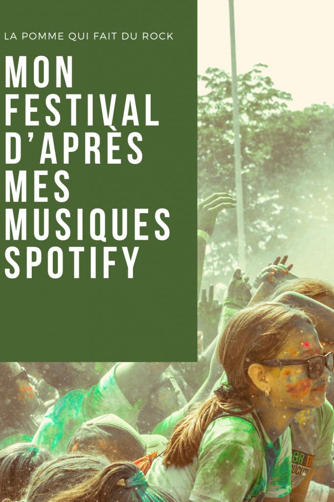 Mon festival d'après mes musiques Spotify